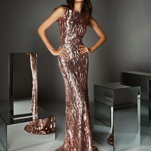High Neck Placement Sequin Gown.JPG