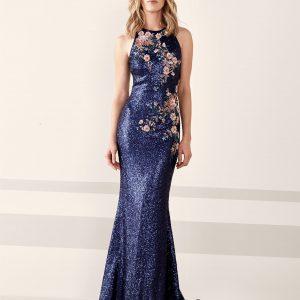 High Neck Sequined Dress.JPG