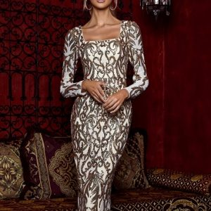 Long Sleeve Sequin Gown.JPG