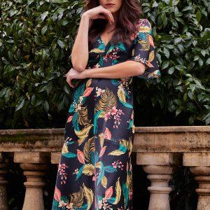 Mid calf length Floral dress.jpg
