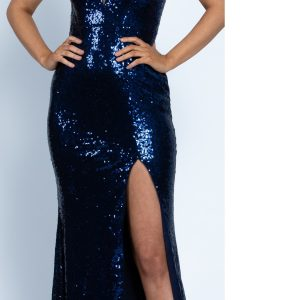 Front Spilt Sequin Gown.JPG
