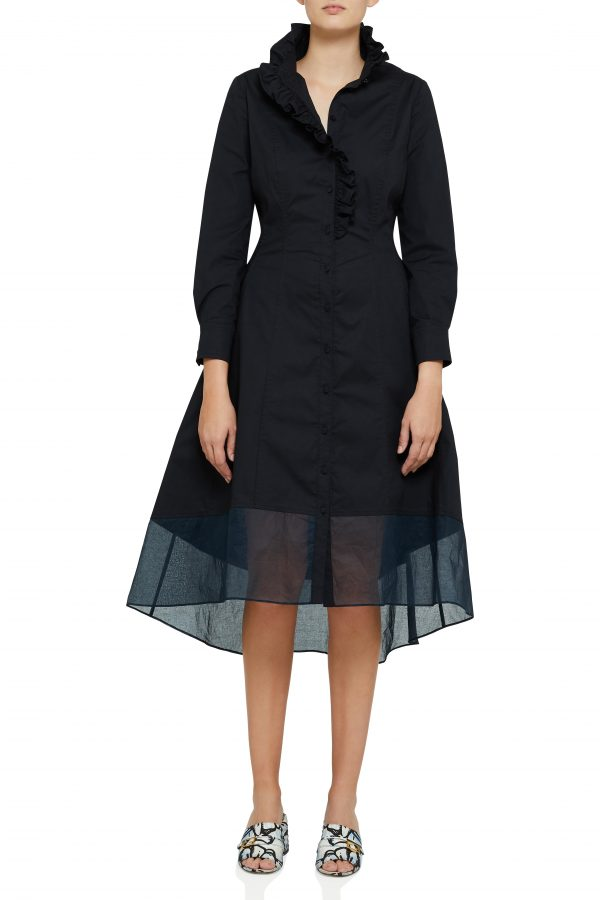 high neckline fit and flare dress.JPG