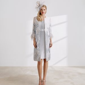 Maribu trimmed coat and Sheath dress.JPG