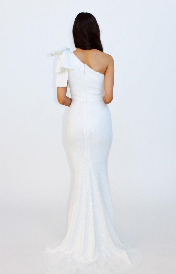 ONE SHOULDER WITH BOW SEQUIN GOWN.JPG