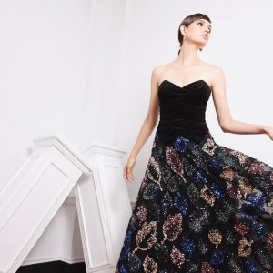 Black background colour with multi-coloured tulle embroidery skirt.JPG