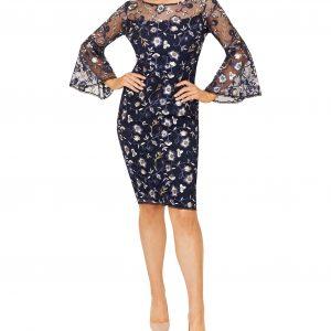 Round neckline with sheer sleeve dress.JPG