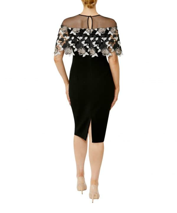 Sheer with gold & ivory lace Overlay Shift Dress.JPG