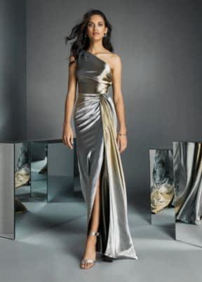 Evasé dress with asymmetrical neckline.JPG
